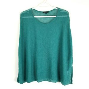 Eileen Fisher Womens Sweater Pullover Poncho Wool